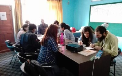 First day of meeting with volunteers at TUDE, Nepal